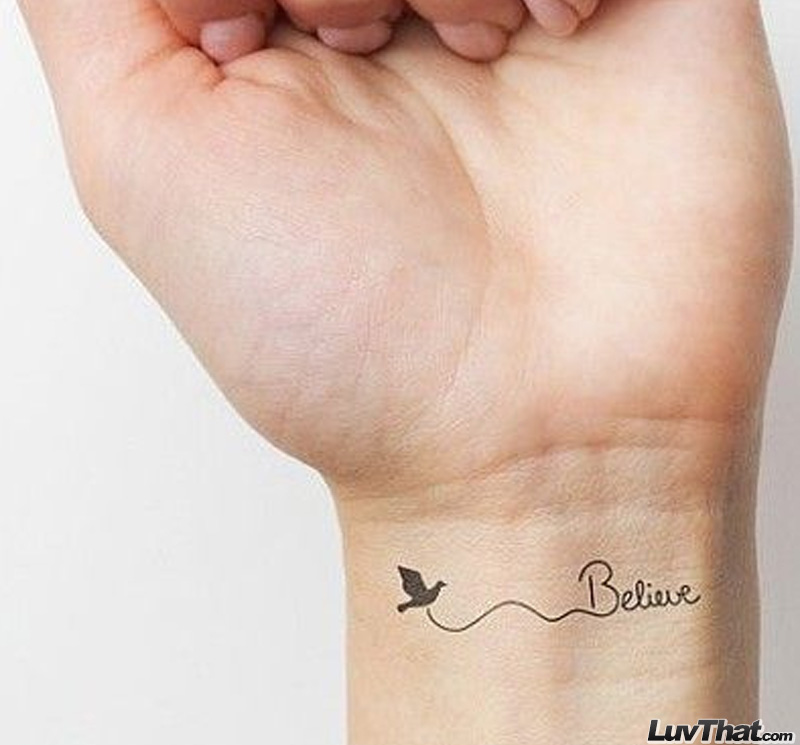 believe wrist tattoo