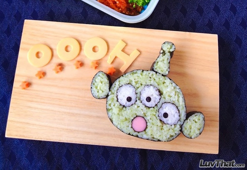 cute alien sushi art
