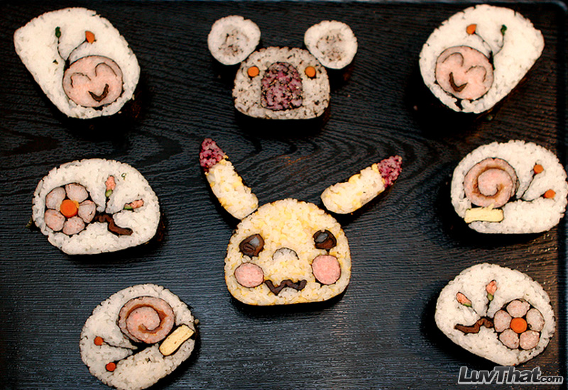 cute sushi art creatures