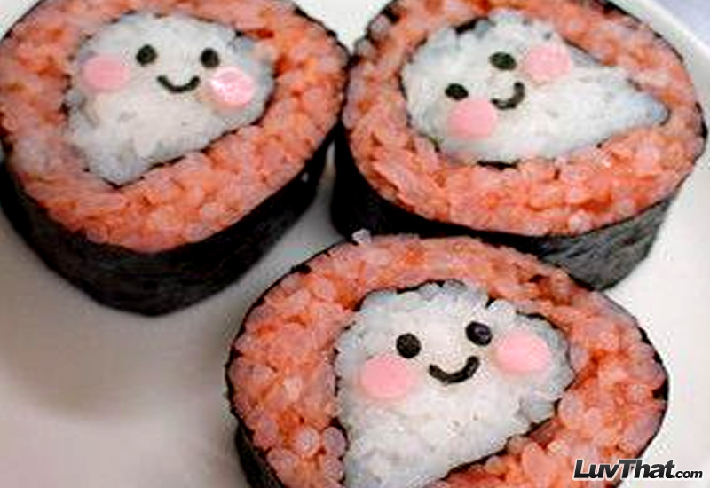 ghosts sushi art