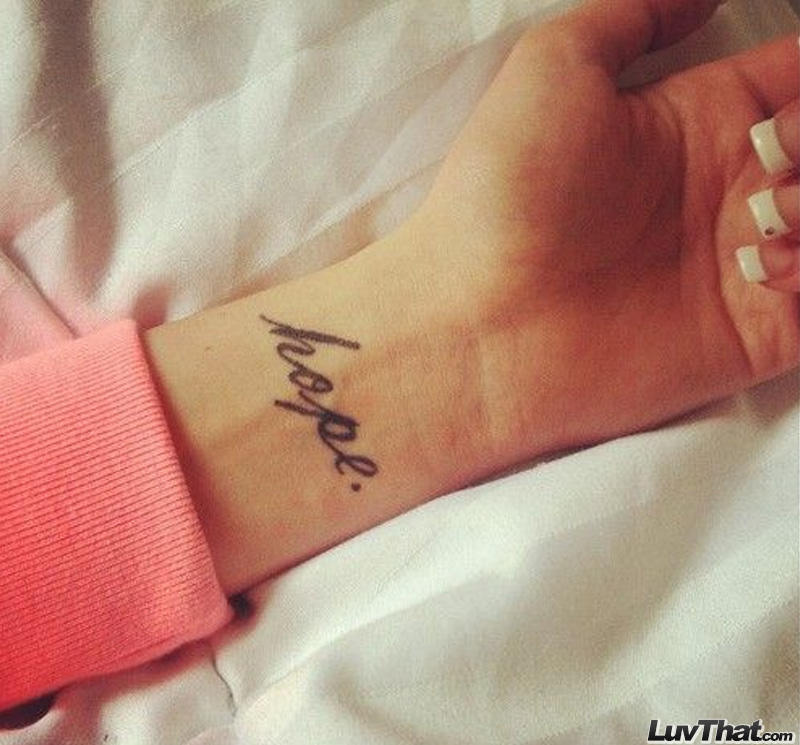 hope wrist tattoo