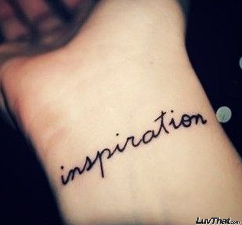 75 amazing wrist tattoos luvthat for Inspirational wrist tattoos