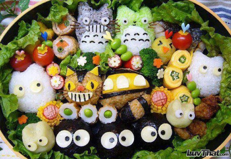 my neighbor totoro anime sushi art