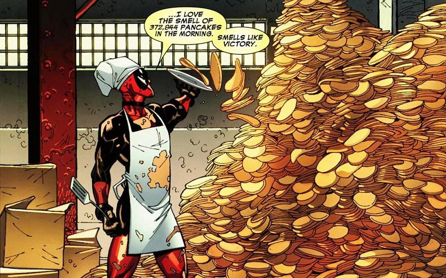 deadpool pancakes smell like victory