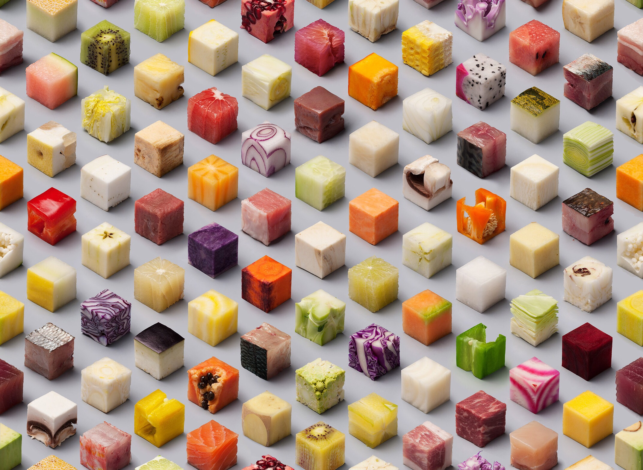 amazing cubes of food