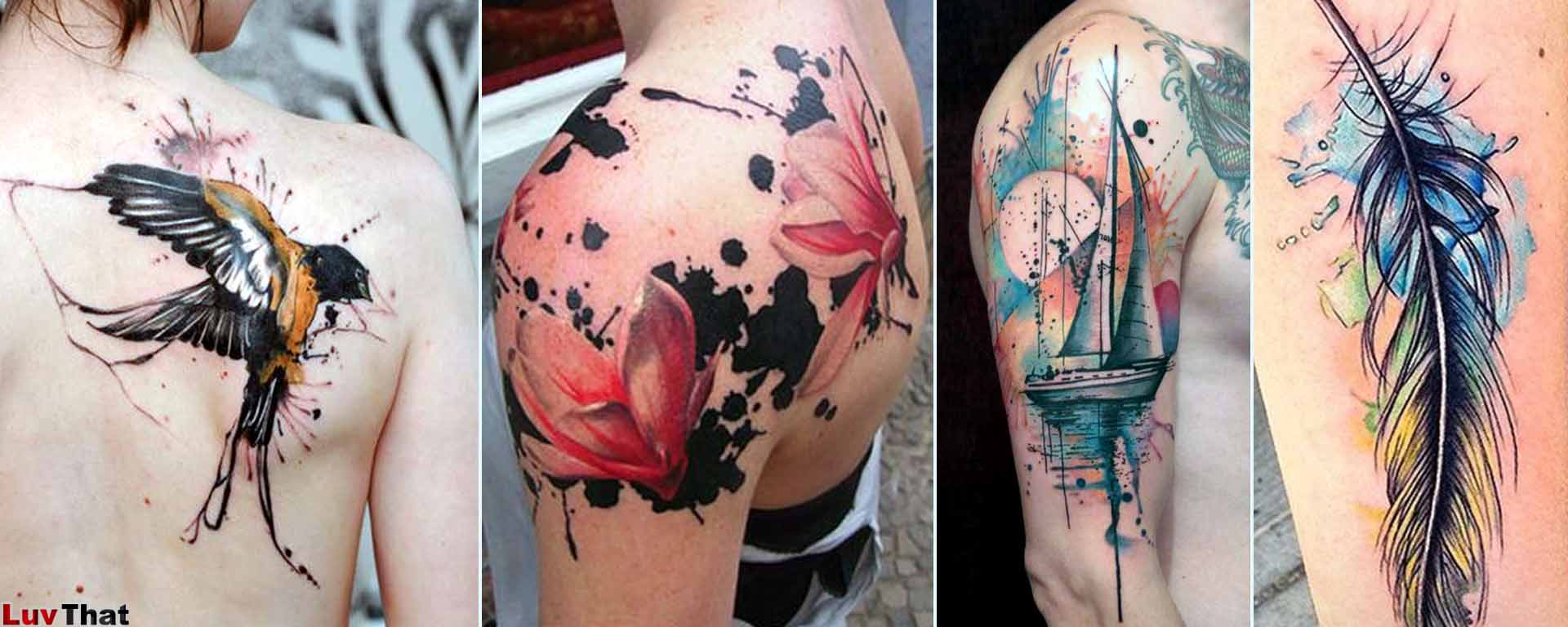 Featured watercolor tattoos