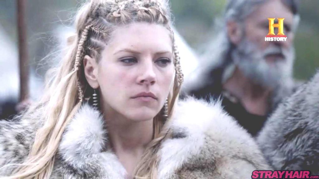 Katheryn Winnick braided hairstyle