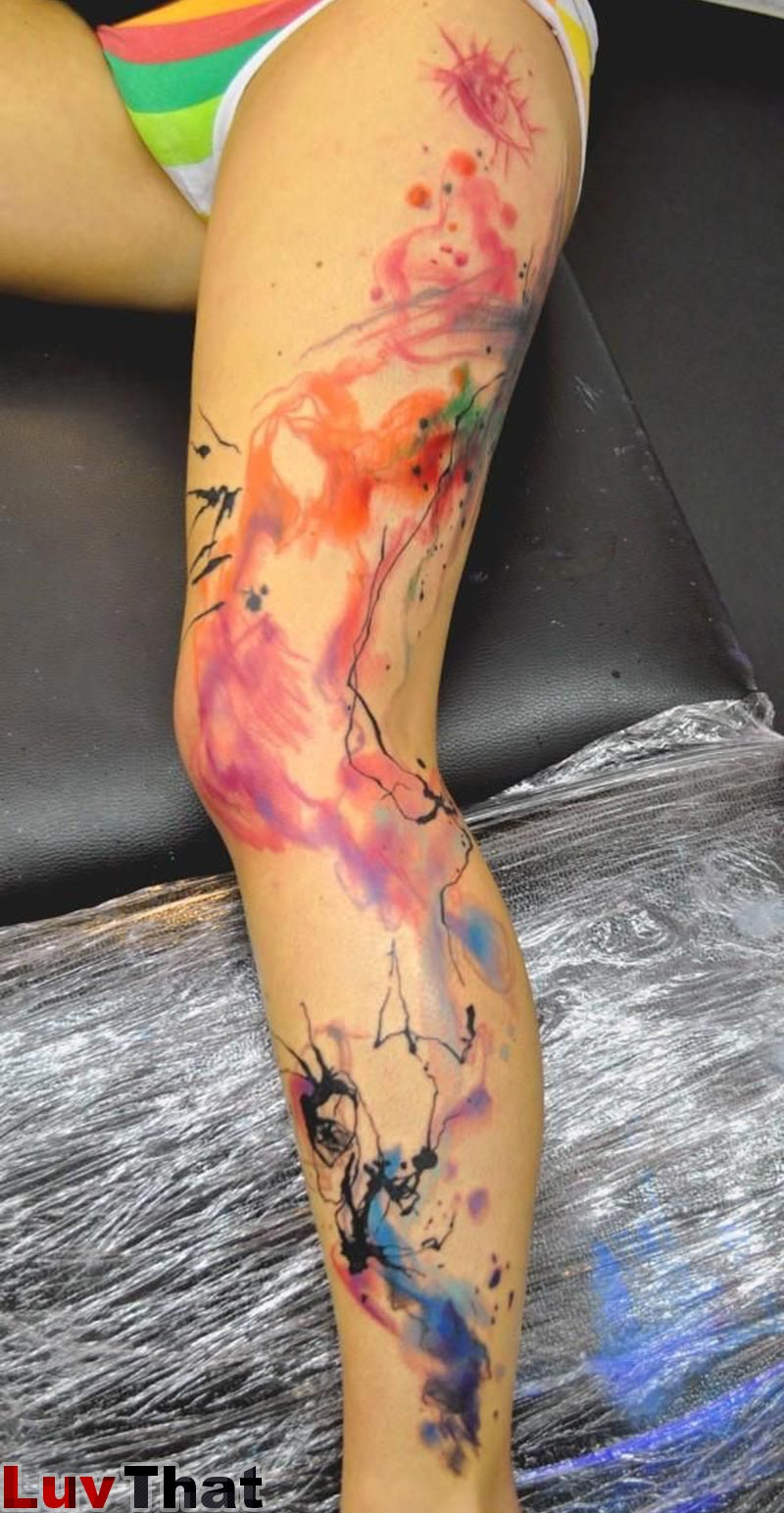 25 amazing watercolor tattoos luvthat for What is a watercolor tattoo