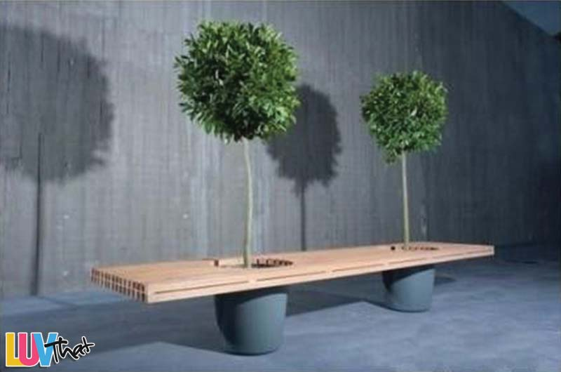 add some greenery to your bench
