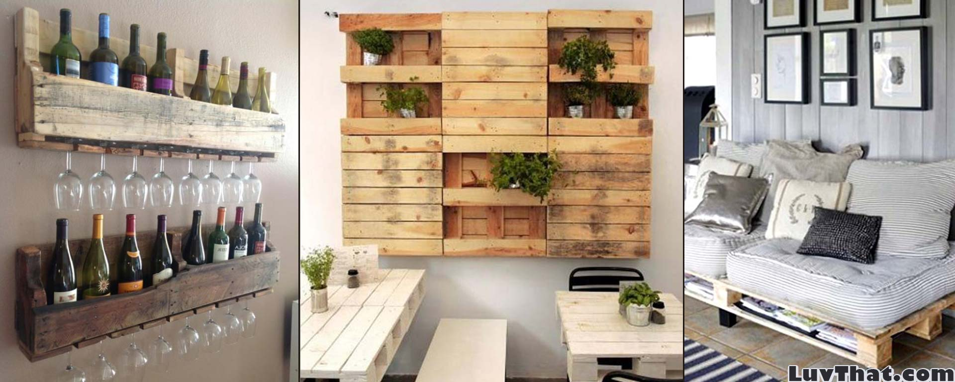 Pallet Furniture Pictures Cool Wood Pallet Furniture Ideas Luvthat