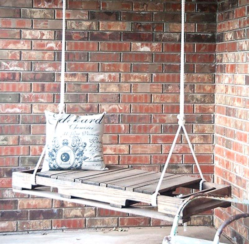 pallet wood porch swing
