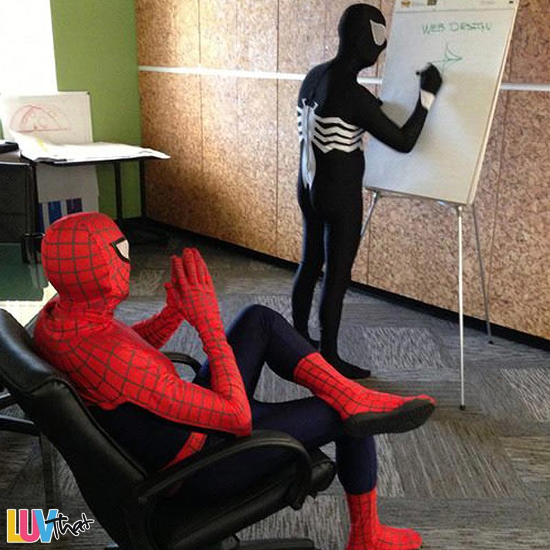 funny spiderman costume Web Design 101