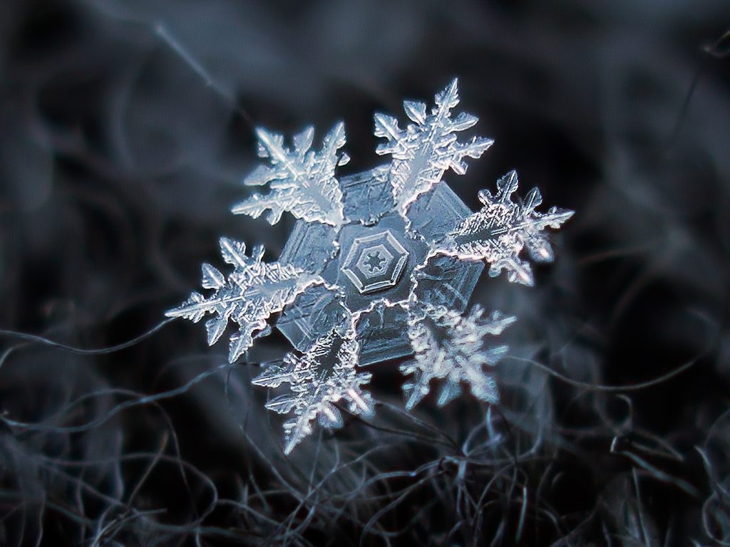 beautiful snowflake closeup