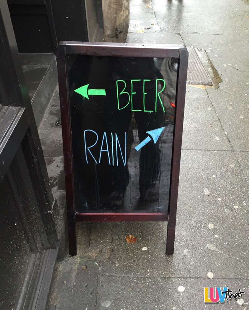 beer or rain you choose