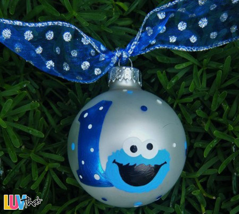 cookie monster christmas tree ornament