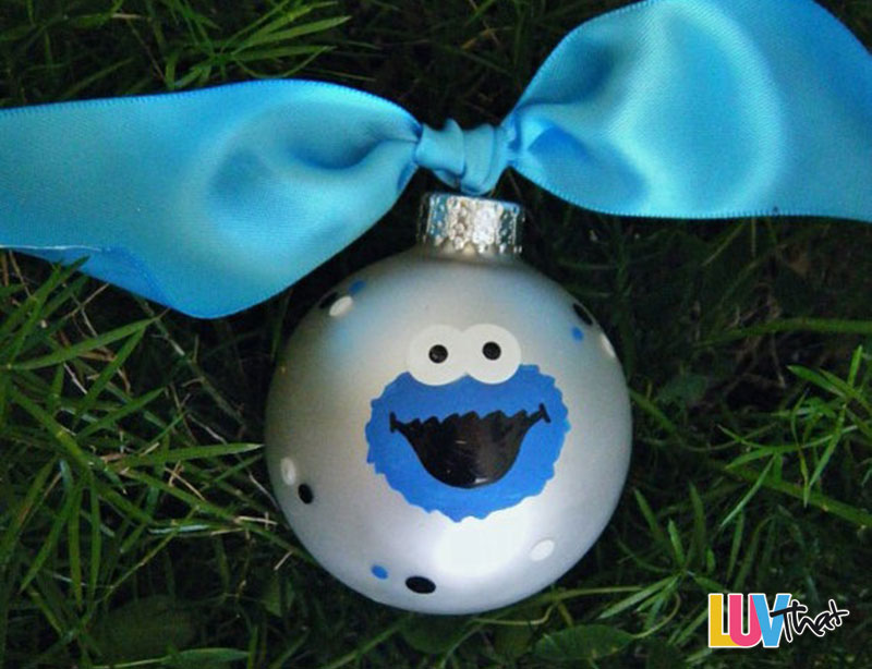 cute cookie monster christmas tree ornament
