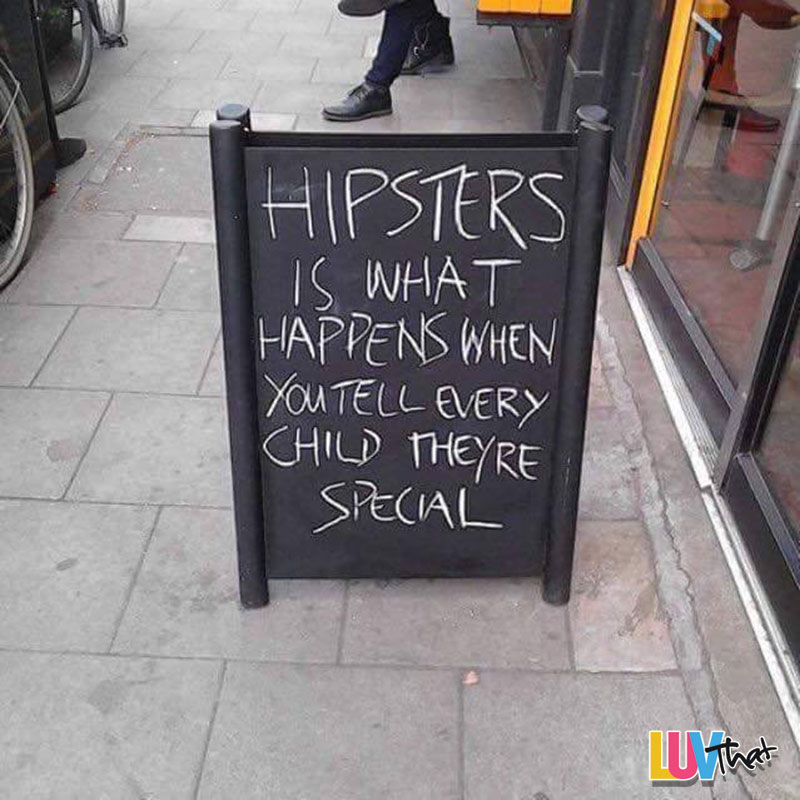 hipsters suck sign