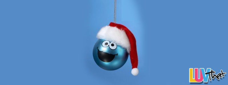 little blue cookie monster tree ornament