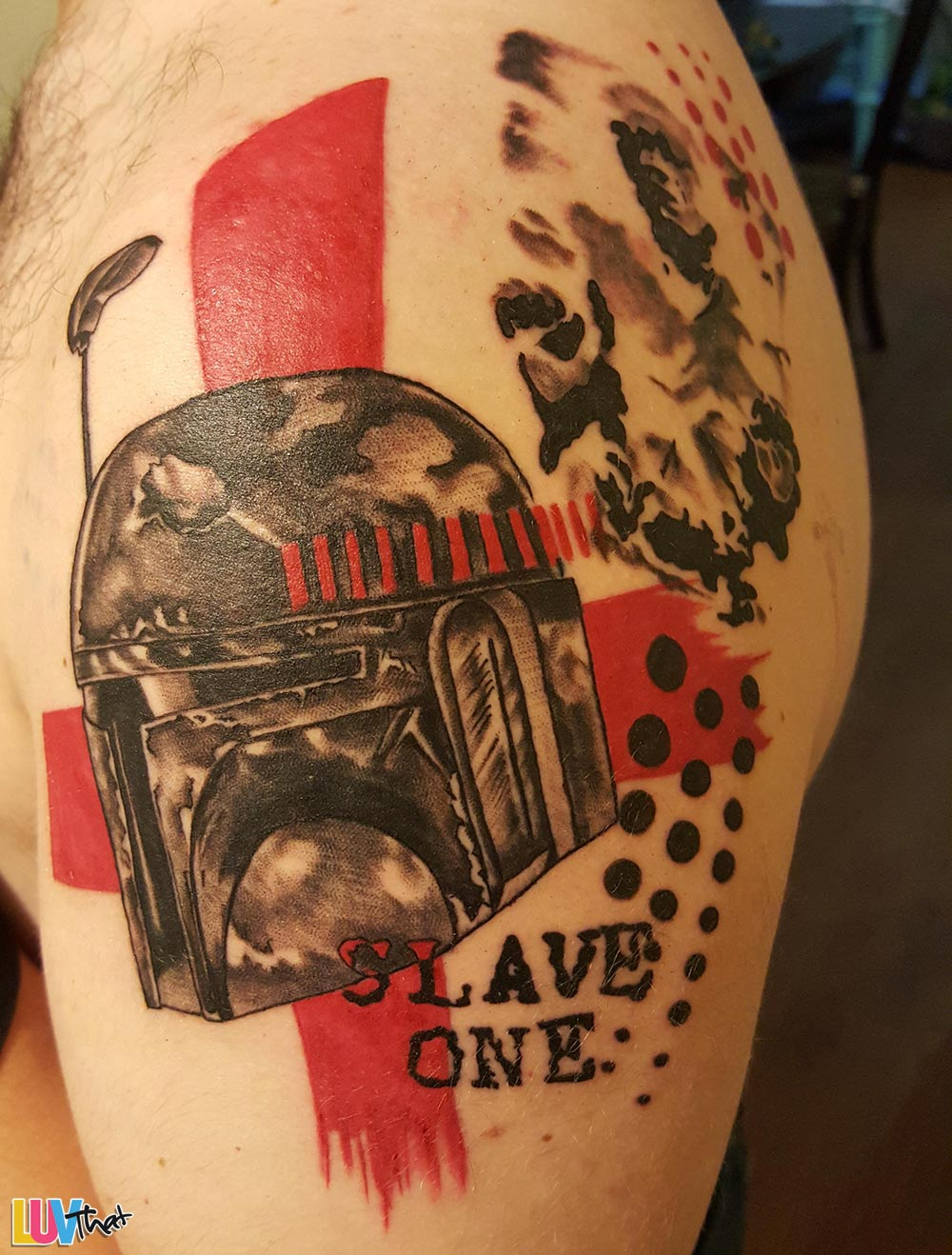 slave one starwars tattoo