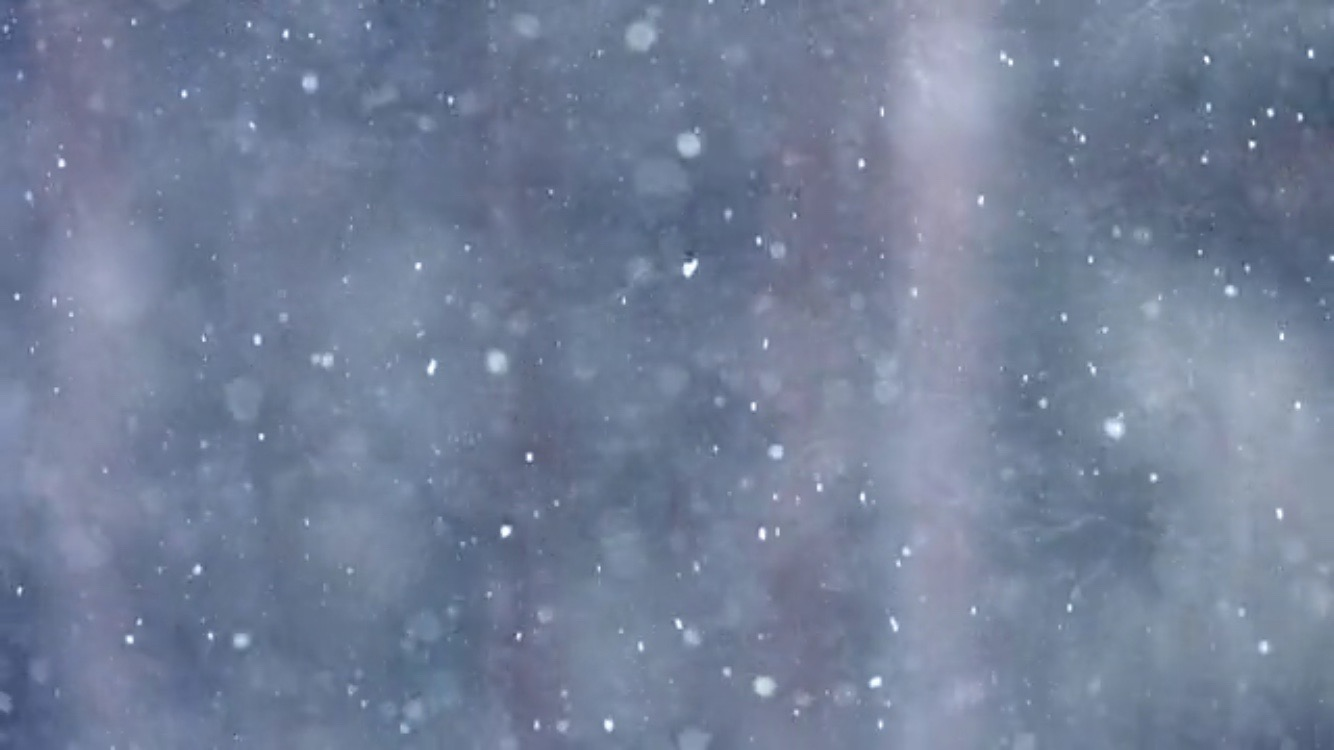 snow falling frozen planet