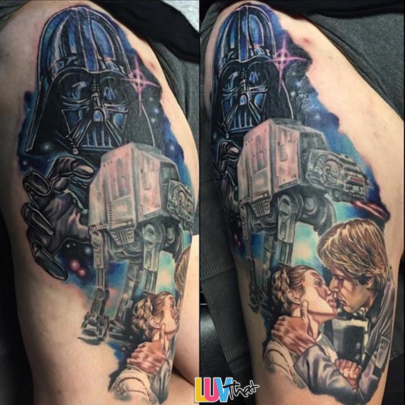 starwars 6 han solo leia darth vader tattoo