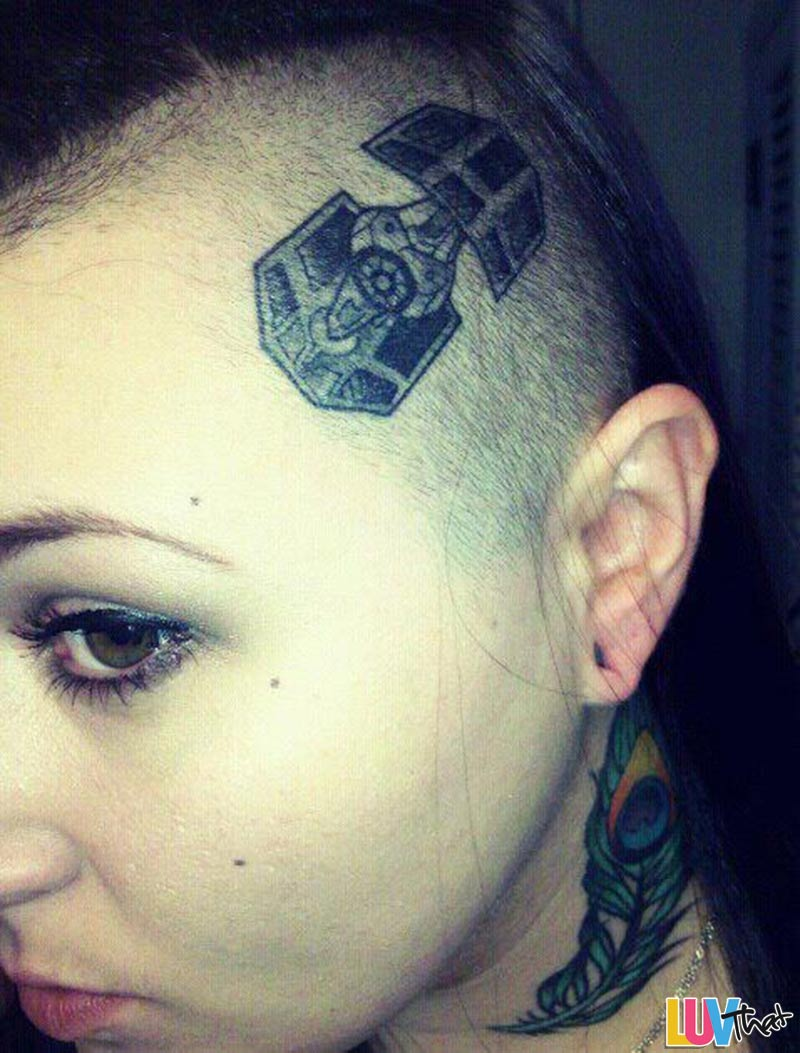 tie fighter head tattoo
