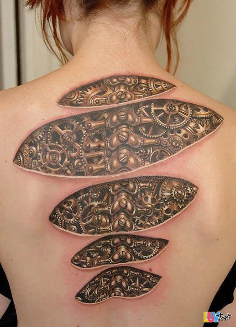20 mind bending optical illusion tattoos luvthat for Under the skin tattoo